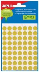 Apli ronde etiketten 10mm geel