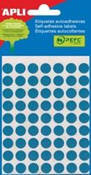 Apli ronde etiketten 10mm blauw
