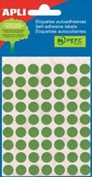 Apli ronde etiketten 10mm groen