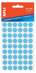 Apli ronde etiketten 13mm blauw