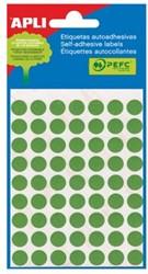 Apli ronde etiketten 13mm groen