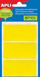 Apli gekleurde etiketten 34x67mm geel