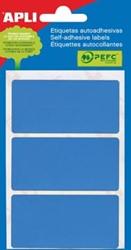 Apli gekleurde etiketten 34x67mm blauw