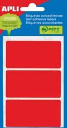 Apli gekleurde etiketten 34x67mm rood