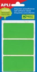 Apli gekleurde etiketten 34x67mm groen