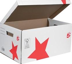 5Star Archiefcontainer met deksel bovenaan, ft 52 x 26 x 34 cm