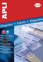 Apli Transparante etiketten ft 48,5 x 25,4 mm, 880 stuks, 44 per blad