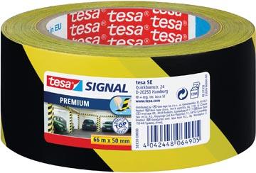 Tesa premium waarschuwingstape,  ft 50 mm x 66 m, zwart/geel