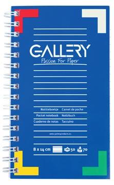 Gallery notitieboekje ft 14 x 8 cm, 100 bladzijden