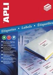 Apli etiketten ft 63,5 x 38,1 mm, ronde hoeken, 525 stuks, 21 per blad (1992)