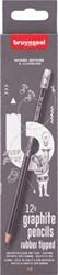 Bruynzeel grafietpotlood HB met gomme, set van 12 stuks