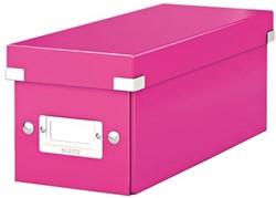 Leitz Opbergdoos CD Wow Click & Store roze