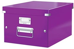 Leitz Opbergdoos Wow Click & Store ft A4, paars