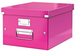 Leitz Opbergdoos Wow Click & Store ft A4, roze