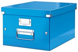 Leitz Opbergdoos Wow Click & Store ft A4, blauw