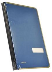 Class'ex handtekenmap blauw, met metalen beschermrand