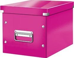 Leitz Click & Store kubus middelgrote opbergdoos, roze
