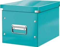 Leitz Click & Store kubus middelgrote opbergdoos, ijsblauw