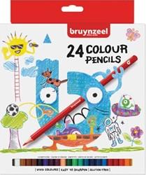 Bruynzeel Kids kleurpotloden, set van 24 stuks in geassorteerde kleuren