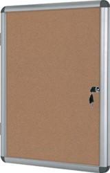 Vitrine met kurk met stevige aluminium lijst 6 x A4