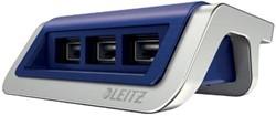 Leitz Style laadstation met 3 USB poorten, blauw