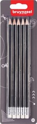 Bruynzeel potlood HB, blister van 5 stuks