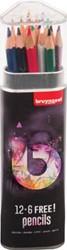 Bruynzeel kleurpotloden Light, koker van 12+6 stuks gratis