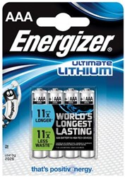 Energizer batterijen Ultimate Lithium L92, 1,5 V