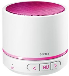 Leitz WOW mini bluetooth luidspreker, wit / roze