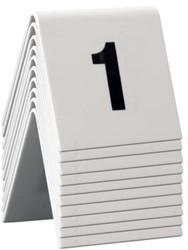Securit tafelnummers 1 - 10, set met 10 nummers