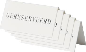 Securit tafelbordje 'Gereserveerd' pak met 5 stuks