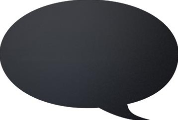 Krijtbord Securit  tekstballon 30 x 50 cm