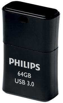 Philips Pico Black USB 3.0 stick, 64 GB