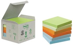 Post-it Notes gerecycled 76 x 76 mmregenboog