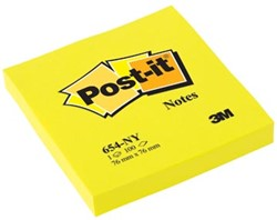 Post-it Neon Notes  76 x 76 mm geel