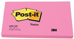 Post-it Neon Notes  76 x 127 mm roze