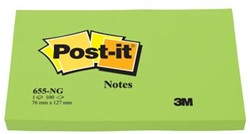 Post-it Neon Notes  76 x 127 mm groen