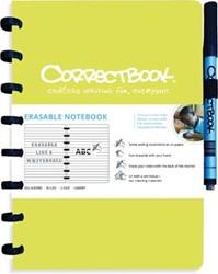 Correctbook A5 gelijnd herbruikbaar schrift, limoengroen