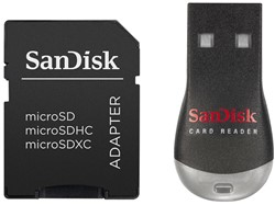 SANDISK MOBILEMATE DUO CARD READER SDDRK-121-B35 incl adapter
