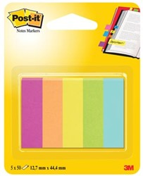 Post-it Notes Markers Capetown, ft 12,7 x 44,4 mm, blister met 5 blokjes van 100 vel