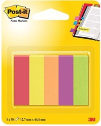 Post-it Notes Markers Jaipur, ft 12,7 x 44,4 mm, blister met 5 blokjes van 100 vel