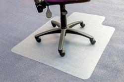 Bureaustoelmat 115x134cm voor tapijt vloeren met uitsparing