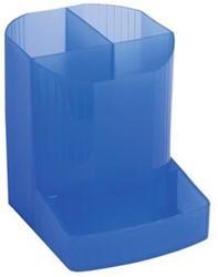 Pennenbakje 4 vakken blauw