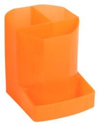 Pennenbakje met 4 vakken Oranje