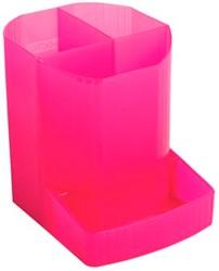 Pennenbakje 4 vakken roze