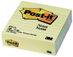 Post-it Notes gelijnd 100 x 100 mm