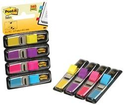 Post-it Post-It Index Smal, geassorteerde kleuren: geel, roze, paars, helderblauw