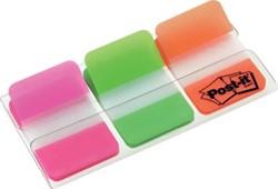 Post-It Index Strong roze, groen en oranje