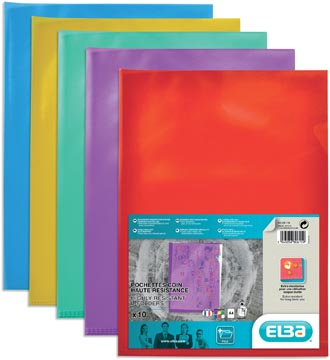 Elba insteekmap Style glashelder geassorteerde kleuren 10 stuks