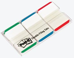 Post-It Index Strong 3 x 22 tabs, rood, blauw en groen